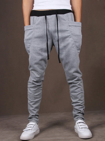 Pegged Draped Pocket Men's Casual Pant - Bychicstyle.com