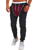 ByChicStyle Casual Zips Color Block Pegged Men's Casual Pant
