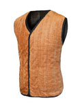 ByChicStyle Casual Basic Warm Fleece Lined Quilted Plain Waistcoat With Patch Pocket