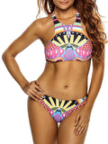 ByChicStyle Colorful Printed Racerback Swimwear - Bychicstyle.com