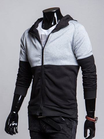 Trendy Color Block Suitable Men Hoodie - Bychicstyle.com