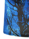 ByChicStyle Crew Neck Short Sleeve 3D Galaxy Tree Printed T-Shirt - Bychicstyle.com