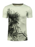 ByChicStyle Casual Round Neck 3D Tree Pattern T-Shirt - Bychicstyle.com