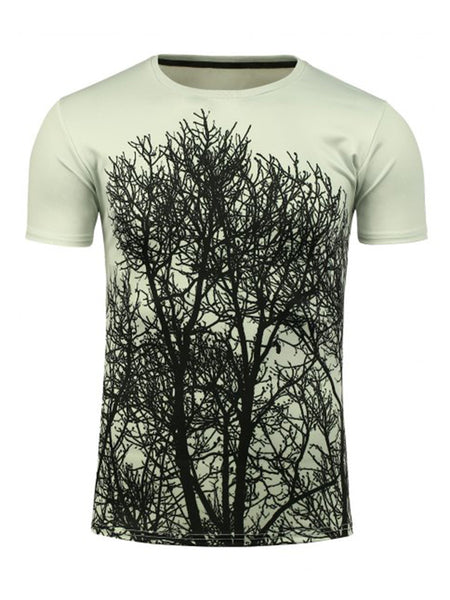 Casual Awesome Short Sleeve Round Neck 3D Trees Printed T-Shirt