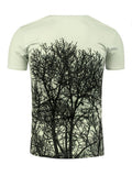 ByChicStyle Casual Awesome Short Sleeve Round Neck 3D Trees Printed T-Shirt
