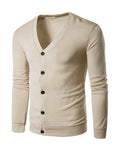 ByChicStyle Casual Basic Single Breasted Plain Men'S Cardigan