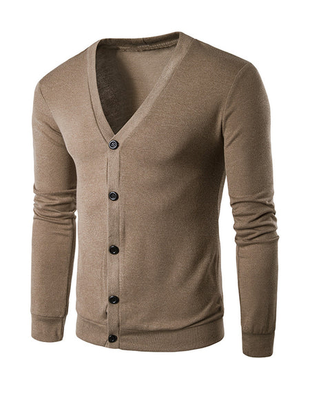 Casual Basic Single Breasted Plain Men'S Cardigan