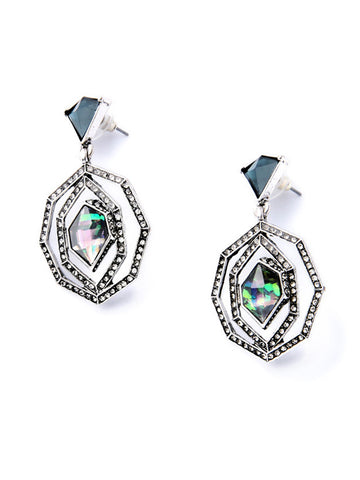 Faux Crystal Rhinestone Stud Earring - Bychicstyle.com