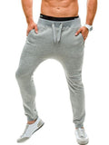 ByChicStyle Casual Basic Drawstring Zips Pocket Plain Men's Casual Pant