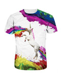 ByChicStyle Colorful Crew Neck Printed T-Shirt - Bychicstyle.com