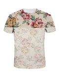 ByChicStyle Suitable Trendy Crew Neck Floral Printed T-Shirt - Bychicstyle.com
