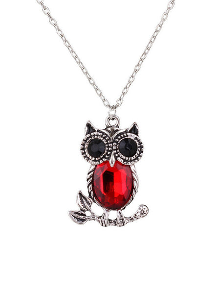 Owl Pendant Necklace - Bychicstyle.com