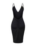 ByChicStyle Sexy Spaghetti Strap Backless Solid Bodycon Dress - Bychicstyle.com