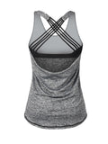 ByChicStyle Casual X-Back Workout Round Neck Sleeveless T-Shirt