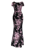 ByChicStyle Round Neck Floral Cotton Maxi Dress - Bychicstyle.com