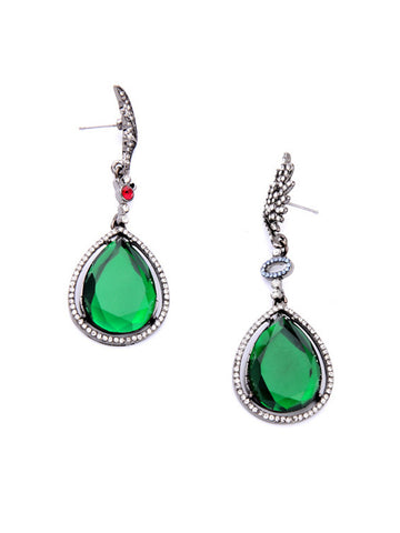 Casual Drop Crystal Pendant Earring