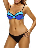 ByChicStyle Underwire Push Up Color Block Bikini - Bychicstyle.com