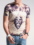 ByChicStyle Fitted Round Neck Printed T-Shirt - Bychicstyle.com