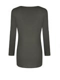 ByChicStyle Solid Unique Round Neck Long Sleeve T-Shirt - Bychicstyle.com
