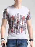 ByChicStyle Casual Round Neck Colorful Printed T-Shirt - Bychicstyle.com