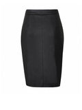 ByChicStyle Slit Zips Solid Pencil Midi Skirt With Asymmetric Hem - Bychicstyle.com
