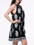 ByChicStyle Loose Crew Neck Tribal Printed Shift Dress - Bychicstyle.com