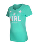 ByChicStyle Cartoon Letters Star Short Sleeve T-Shirt - Bychicstyle.com