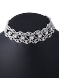 ByChicStyle Casual Alloy Rhinestone Hollow Out Choker Necklace
