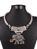 ByChicStyle Casual Alloy Resin Elephant Pendant Necklaces And Earring