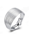 ByChicStyle Casual Adjustable Silver Ring
