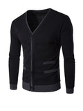 ByChicStyle Casual Basic Designed Contrast Trim Men'S Cardigan