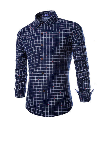 Charming Designed Plaid Men Shirt - Bychicstyle.com