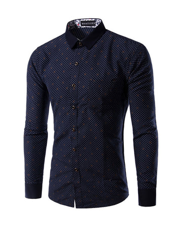 Casual Designed Unique Polka Dot Men Shirt