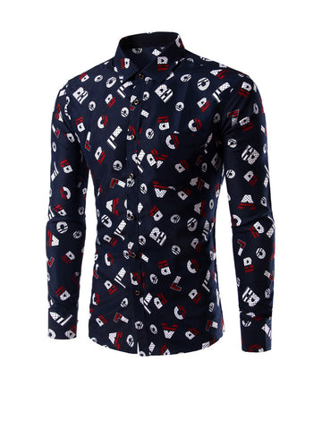 Casual Designed Cute Letters Printed Men Shirt