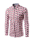 ByChicStyle Casual Allover Geometric Printed Men Shirt