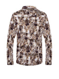 ByChicStyle Stylish Turn Down Collar Abstract Print Men Shirt - Bychicstyle.com