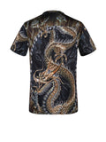 ByChicStyle Casual Round Neck Dragon Printed T-Shirt