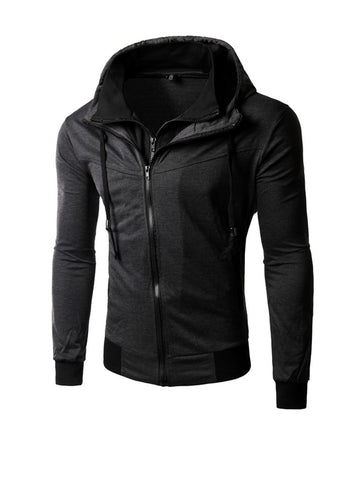 Fake Two-Piece Zips Men Hoodie - Bychicstyle.com