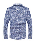 ByChicStyle Turn Down Collar Retro Floral Printed Men Shirt - Bychicstyle.com