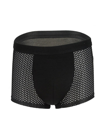 Solid Patchwork Hollow Out Men's Underwear - Bychicstyle.com
