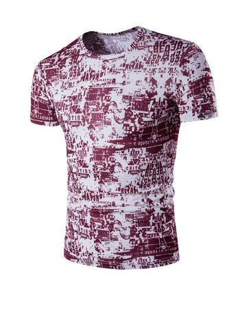 Trendy Style Printed Short Sleeve T-Shirt - Bychicstyle.com