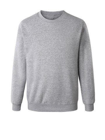 Casual Basic Crew Neck Solid Men Sweatshirt