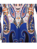 ByChicStyle Loose Paisley Printed Bell Sleeve Shift Dress - Bychicstyle.com