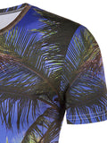 ByChicStyle Round Neck Coconut Tree Printed T-Shirt - Bychicstyle.com