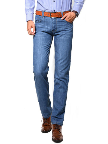 Casual Basic Straight Light Wash Men's Jean