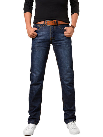 Flap Pocket Light Wash Straight Men's Jean - Bychicstyle.com