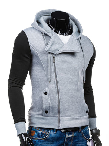 Modern Zips Color Block Men Hoodie - Bychicstyle.com