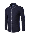 ByChicStyle Turn Down Collar Small Polka Dot Men Shirt - Bychicstyle.com