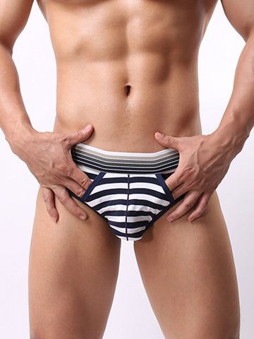Mens Fashion Striped Printed Breathable Underwear - Bychicstyle.com
