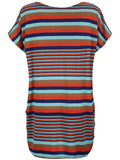 ByChicStyle Round Neck Striped Mini Shift Dress - Bychicstyle.com